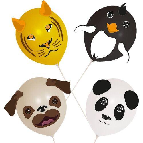 Folat Luftballon »Luftballons Tierköpfe, 4 Stück«