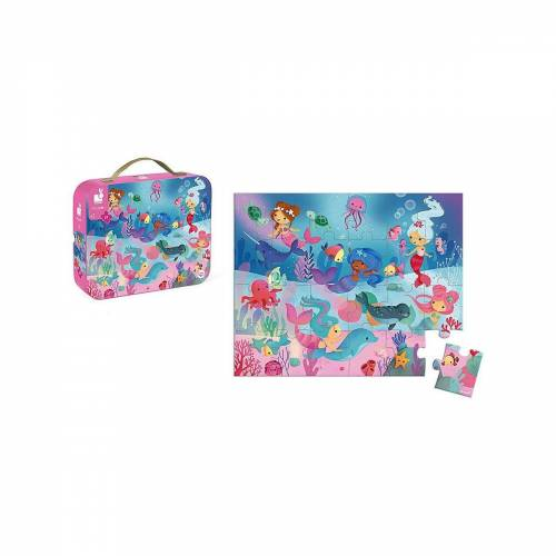 Janod Puzzle »Puzzle Meerjungfrauen, 24 Teile«, Puzzleteile