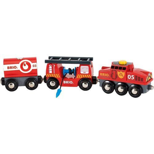 Brio Spielzeug-Eisenbahn »Feuerwehr-Löschzug«