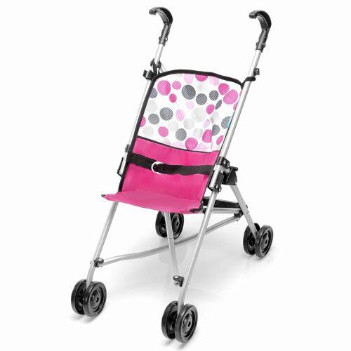 hauck TOYS FOR KIDS Kombi-Puppenwagen »Uno Mini - Pink Dot«, (1-tlg), Leichter Puppenwagen mit Doppelrädern