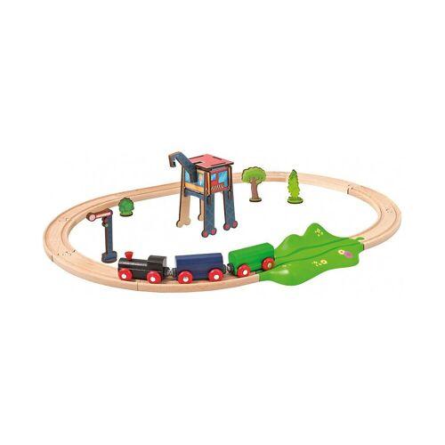 Eichhorn Spielzeug-Eisenbahn »Eisenbahn - Set, Oval mit Zubehör, 18 tlg.«