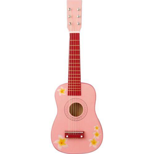 Eitech Gitarre - rosa mit Blumen 60 cm, inkl. Gitarrengurt