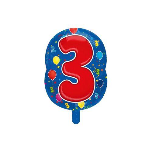 Folat Folienballon Zahl 3