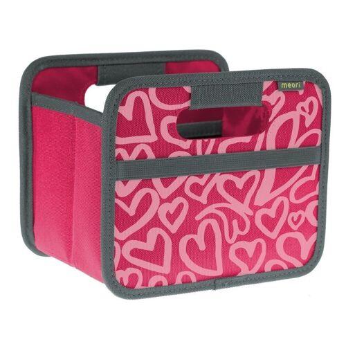 Meori Faltbox »- Faltbox Mini Aufbewahrungsbox Klappbox Herzen A100315«