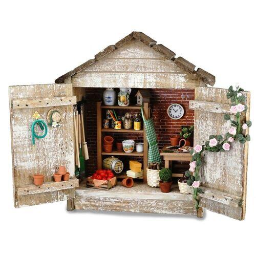 """Reutter Porzellan Puppenhaus »Reutter Miniaturen - Wandbild Standbild """"Gartenhütte"""" (1.730/1) Gartenhaus«"""