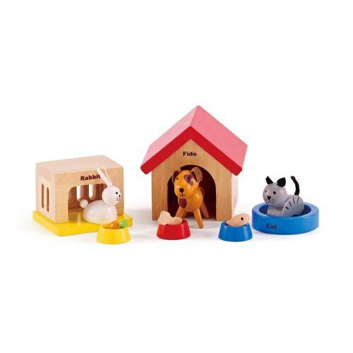Hape »Haustiere aus Holz für Puppenhaus« Puppenmöbel (Set, 12-tlg)