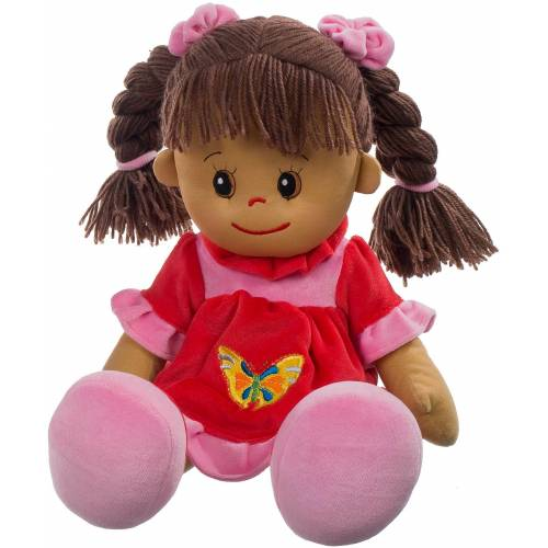 Heunec® Stoffpuppe »Poupetta Lucy mit braunem Haar 50 cm« (1-tlg)