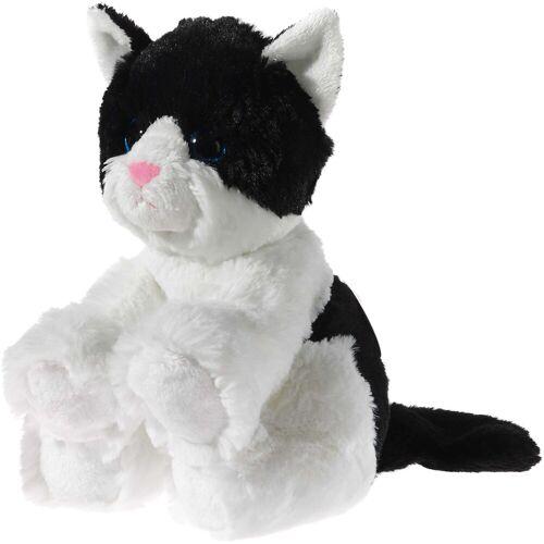 Heunec® Kuscheltier »Glitter Kitty Katzenbaby Schwarz-Weiß, 24 cm«