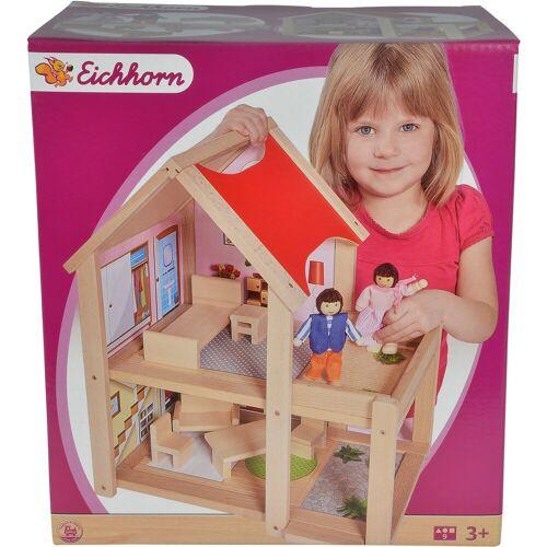 Eichhorn Puppenhaus »Puppenhaus, 9tlg.«, mit Einrichtung und Spielfiguren