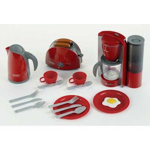 Klein Kinder-Küchenset »Bosch Frühstückset«, (Set, 16-tlg), Wasserkocher mit Wasser befüllbar