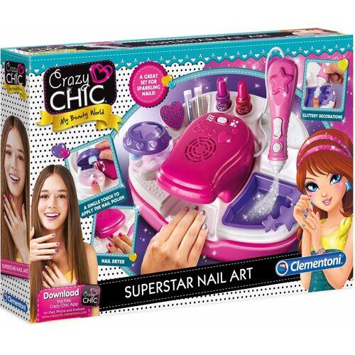 Clementoni® Kreativset »Crazy Chic Superstar Nageldesign«, (Set), Mit kostenloser App
