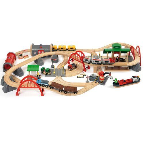 Brio Spielzeug-Eisenbahn »WORLD Straßen & Schienen Bahn Set Deluxe«, (Set)