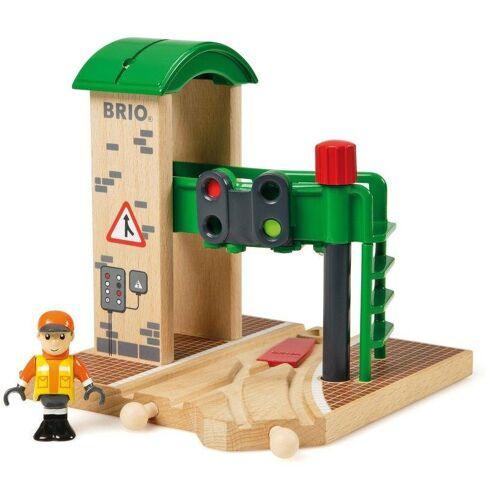 Brio Spielzeugeisenbahn-Gebäude »WORLD Signal Station«