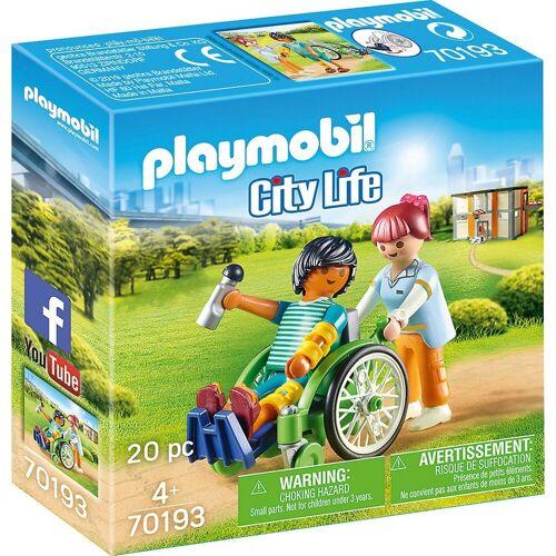 Playmobil Konstruktions-Spielset »70193Patient im Rollstuhl«