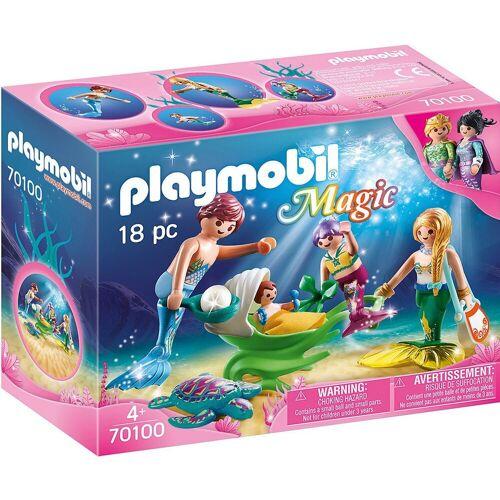 Playmobil Spielfigur »70100 Familie mit Muschelkinderwagen«