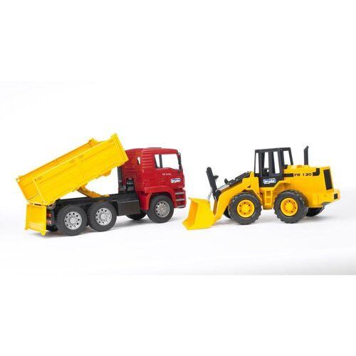 Bruder® Spielzeug-Baumaschine »MAN TGA Kipplastwagen mit Gelenkradlader FR130«