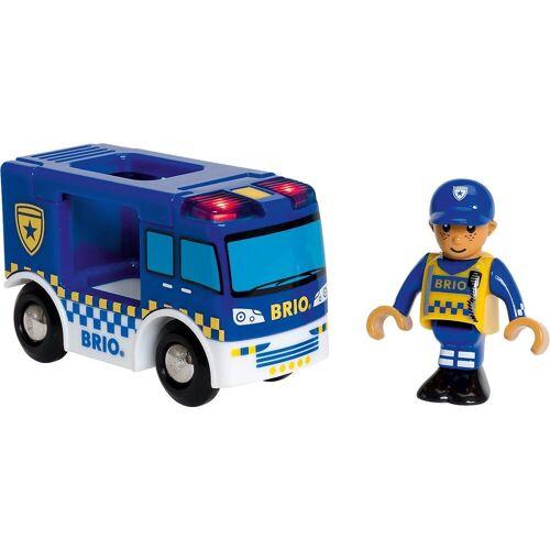 Brio Spielzeug-Eisenbahn »Polizeiwagen mit Licht und Sound«