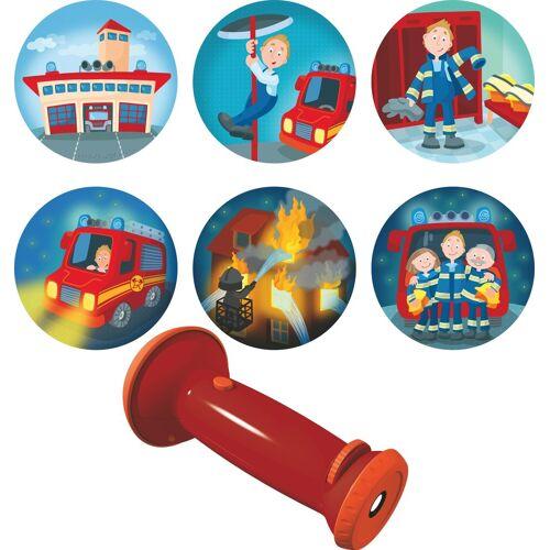 Haba Taschenlampe »Feuerwehr-Einsatz«, 3in 1: Taschenlampe-, Schlummerlicht- u. Projektorlame