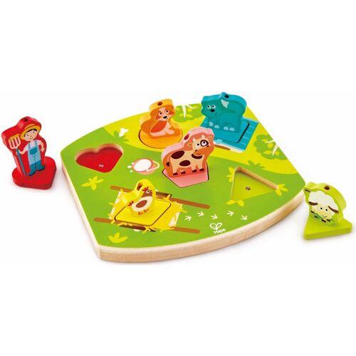 Hape Puzzle »Bauernhof-Geräusche-Puzzle«, 6 Teilig, bunt
