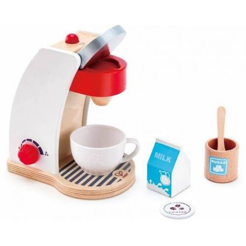 Hape Kinder-Kaffeemaschine »Meine Kaffeemaschine«, (Set, 6-tlg), mit Ein-/Ausschalter und einem Drehregler