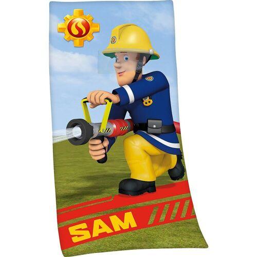 Herding Handtücher »Strand- & Badetuch Feuerwehrmann Sam, 75x150 cm«