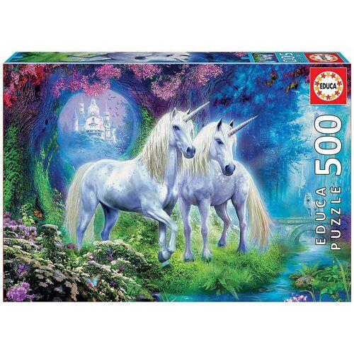 Educa Puzzle »Puzzle Einhörner im Wald, 500 Teile«, Puzzleteile