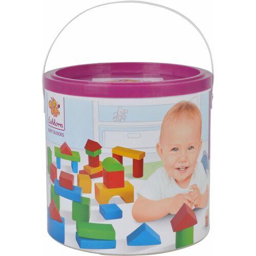 Eichhorn Spielbauklötze »Baby-Box«, Holz, (50 St), bunt