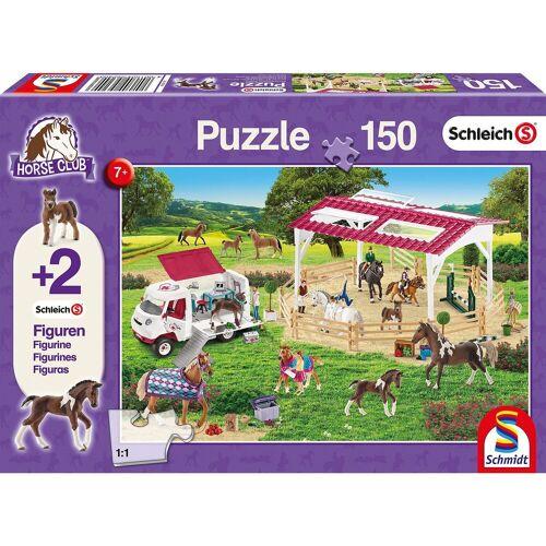 Schmidt Spiele Puzzle 150 Teile Reitschule und Tierärztin + 2 Schleich®-Fig