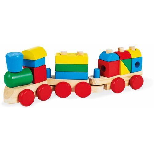 Pinolino® Spielzeug-Eisenbahn »Molly«, mit Bauklötzen