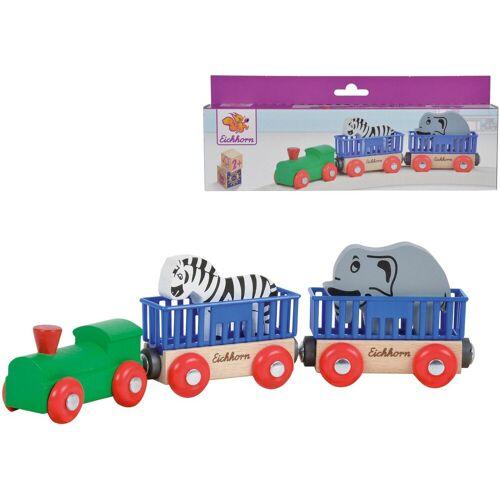 Eichhorn Spielzeug-Eisenbahn »Tierzug, 5-tlg.«, (Set, 5-tlg), aus Holz