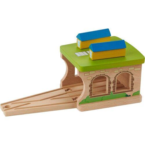 EverEarth® Spielzeugeisenbahn-Gebäude »Eisenbahnschuppen«