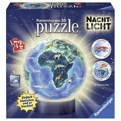 Ravensburger Puzzleball »Nachtlicht Erde bei Nacht«, 72 Puzzleteile, mit Leuchtmodul inkl. LEDs