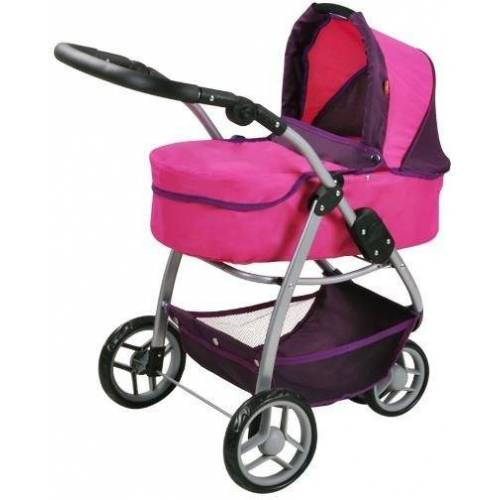Knorrtoys® Puppenwagen »Cico - pink owl«, 2-in-1