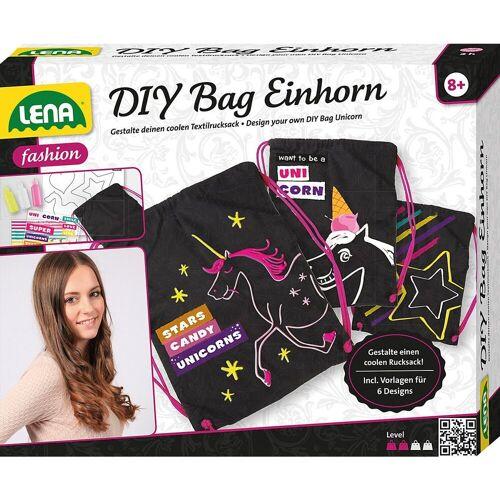 Lena® Textilmarker »DIY Bag Leinen-Rucksack Einhorn«