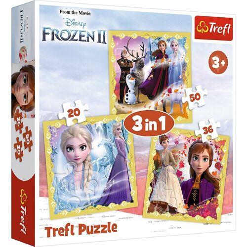 Trefl Puzzle »Puzzle 3 in 1 - Anna & Elsa - Disney Frozen II«, Puzzleteile