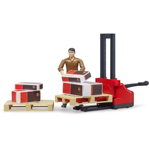 Bruder® Spielzeug-Gabelstapler »UPS Logistik«, (Set), mit Zubehör
