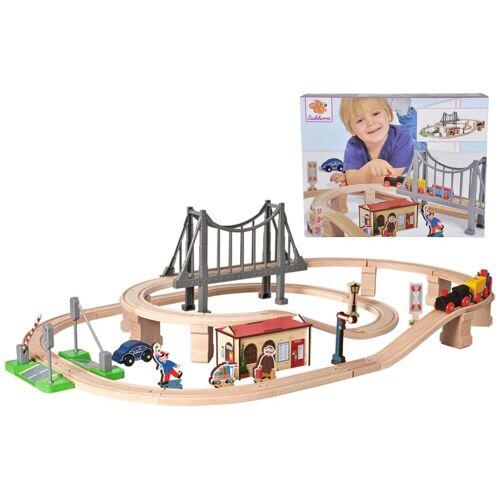 Eichhorn Spielzeug-Eisenbahn »Bahnset mit Brücke, 54-tlg.«, (Set, 54-tlg), aus Holz; Made in Europe