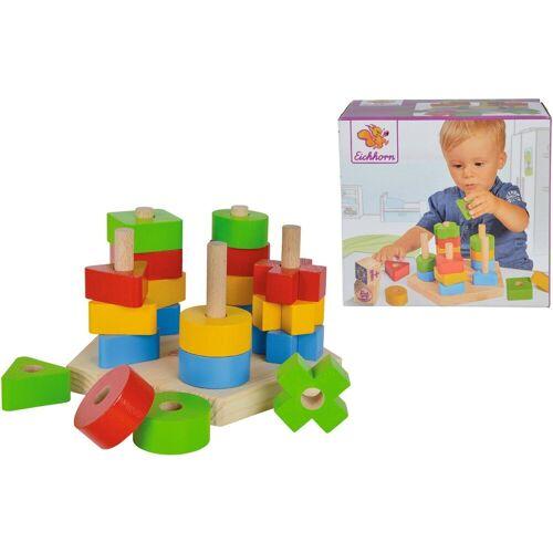 Eichhorn Steckspielzeug »Steckspiel«, (Set, 21-tlg), aus Holz