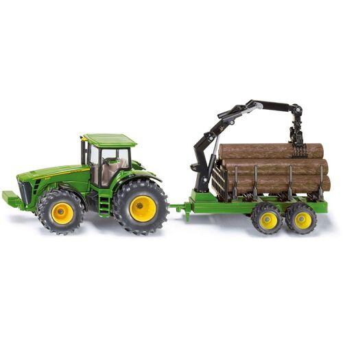 Siku Spielzeug-Traktor »Farmer, John Deere 8430 mit Forstanhänger«