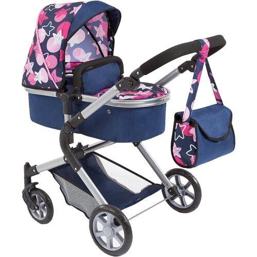 Bayer Puppenwagen »Puppenwagen City Neo blau mit rosa Sternen«