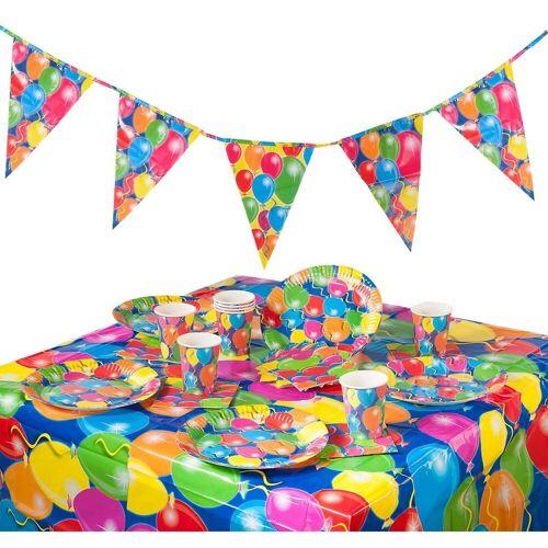 Folat Kindergeschirr-Set »Partyset Ballon, 38-tlg.«