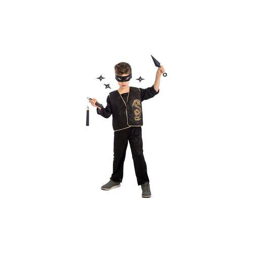 Ninja-Set (Maske, Weste, Waffen), 5-tlg.