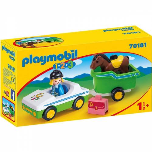 Playmobil Spielfigur »70181 PKW mit Pferdeanhänger«
