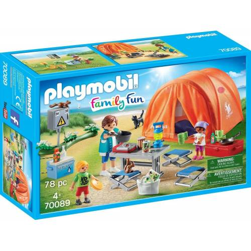 Playmobil Konstruktions-Spielset »Familien-Camping (70089), Family Fun«, Made in Germany