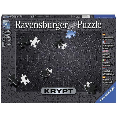 Ravensburger Puzzle »Krypt Black«, 736 Puzzleteile, Made in Germany, FSC® - schützt Wald - weltweit