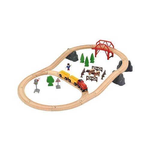 """Brio Spielzeugeisenbahn-Set »Holzeisenbahnset """"Landleben""""«"""