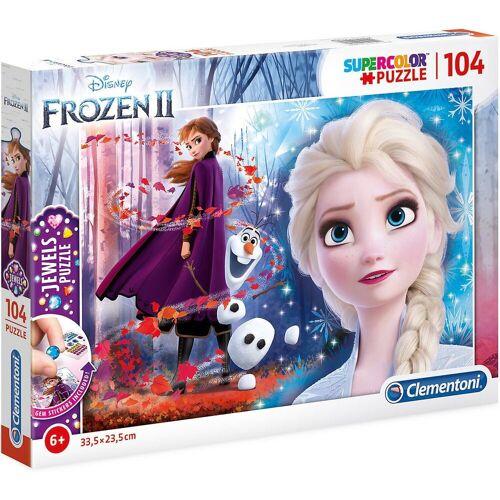 Clementoni® Puzzle »Puzzle 104 Teile Jewels Puzzle Die Eiskönigin 2«, Puzzleteile