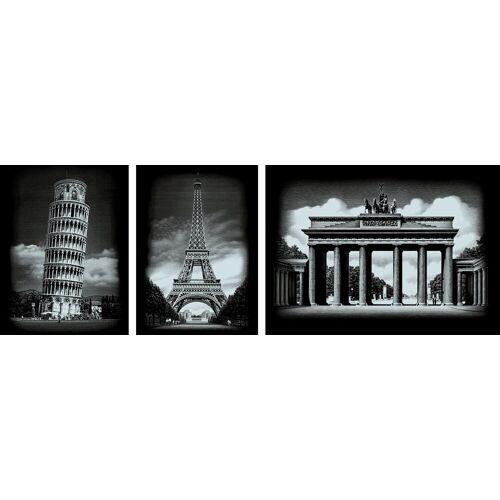 VBS Kunstdruck »Bauwerke«, Silber, 3 Motive, 25,2 cm x 20 cm