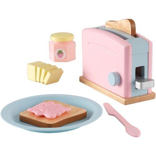 KidKraft® Kinder-Toaster »Toaster-Set (11tlg)«, (Set, 11-tlg), mit beweglichen Toastergriff, rosa