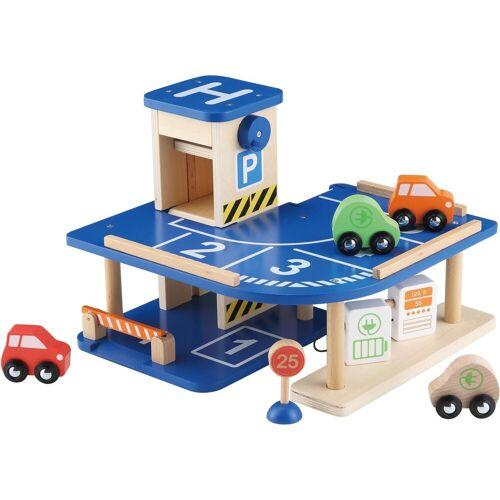 EverEarth® Spiel-Parkgarage »Parkgarage«, mit manuellem Aufzug, bunt